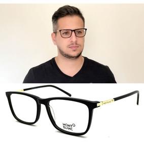 2fe2018b16817 Armação Oculos Grau Masculino Mont Blanc Mb626 Original. R  89