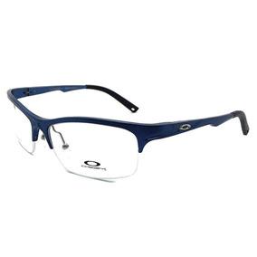 477a9158d192f Armação P  Oculos De Grau Meio Aro Oa4015 Masculino + Case