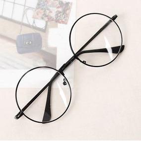 23b18e185348a Armação Óculos De Grau Lentes Redondas Preto Harry Potter