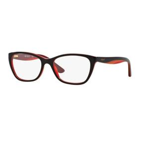 affba08541626 Armação Oculos Grau Vogue Vo2961 2012 53 Marrom Laranja Verm