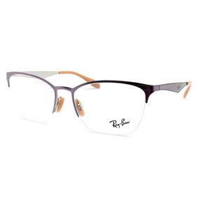7db306f73 Armação Óculos De Grau Ray-ban Feminina Rb6345 2918 Tam. 54