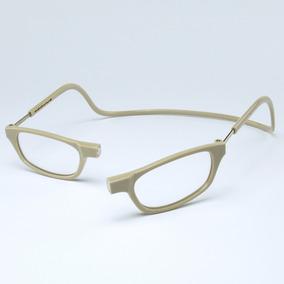 137f02149 Armação Óculos Leitura Clikko Bege Claro Com Imã-prático
