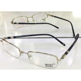 55a210a2fd2e5 Armação Oculos De Grau Meio Aro Modelo Mb88 Prata E Preto. R  114 99