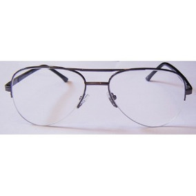 14888fd8be0fc Armação Óculos De Grau Meio Aro Unissex P  Grau Multifocais