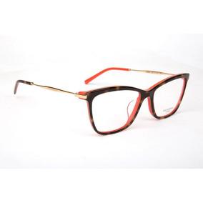 2020f0a9339a8 Armação Oculos Grau Ana Hickmann Ah6284 G22 Marrom Coral