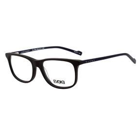 223c2fcf80073 Armação Oculos Grau Evoke On The Rocks 4 A01 Preto Azul Bril