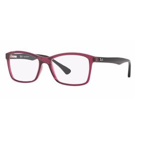 ebeaacfa865c6 Armação Oculos Grau Ray Ban Rb7095l 5655 53mm Roxo Preto
