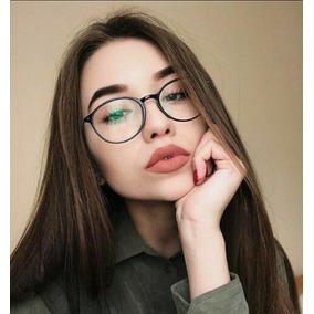 5a52b2a42 Óculos Modelo De Grau Sem Grau Lente Falsa Redondo Feminino
