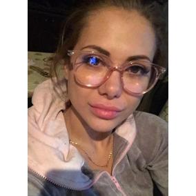 f48b43e14 Oculos Transparente Sem Grau Quadrado - Óculos Rosa claro no Mercado ...