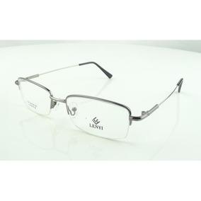 37e9dd4c034df Armação Oculos Grau Titanium Grafite Bifocal Meio Aro A786