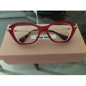 88831f7cc5fba Oculos Grau Miu Miu Vermelho - Óculos no Mercado Livre Brasil