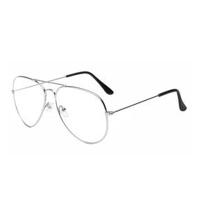 060890482b1e6 Armação Óculos De Grau Masculino Original Aviador Prata 088