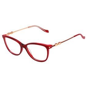 110aa93677aac Ana Hickmann Ah 6346 - Óculos De Grau C03 Vermelho E Dourado