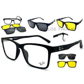 79a55a07cad3b Armação Oculos Grau Masculino R2088 Clip On Acetato Original