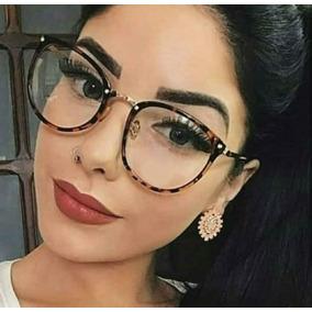 1a6a1d7c67c4b Óculos Sem Grau Armação Redonda Chique Nerd De Mulher Barato