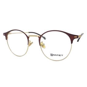 e0a3784786a2b Armação Garnet Óculos Lente Para Grau Redondo Dourado Marrom