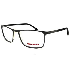 927a6b7ae11f3 Armação Oculos Grau Masculino Pr51 Titanio Original Import. R  120