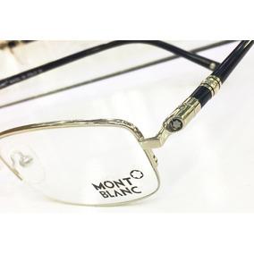 df5bb00a55fba Armação Oculos De Grau Montblanc Mb89 Preta Meio Aro Linda!