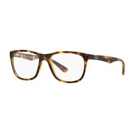 562bef6fdd9b0 Armação Oculos Grau Ray Ban Rb7076 2301 Lente 53mm Havana Br