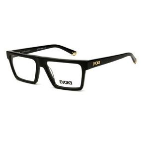 225c95a5a1e6d Armação Oculos Grau Evoke Upper 1 A01 Preto Brilho Dourado