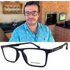 759f1ae67f54c Armação Oculos Grau Masculino Ea6615 Premium Original Tr90
