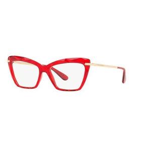 1da03ea6446a2 Armação Óculos Feminino Gatinho Dg5025 Diamante Vermelho