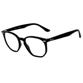 5d7f1705a5980 Óculos De Grau Ray Ban Hexagonal Rb7151 2000 Preto Original
