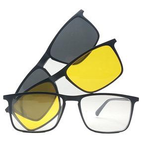 89474af4ca03c Armação De Óculos Clip On Polarizado E Night Driver Promoção