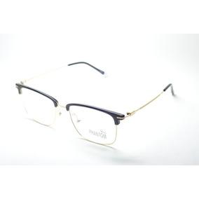 b4dad79a0e89b Armação Óculos P  Grau Feminino Quadrado Metal Dourado Moda