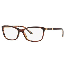 b4ed2859a Armação Oculos Grau Versace Ve3186 5077 54 Marrom Havana