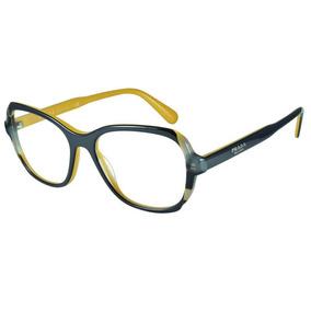 94ef7c619 Oculos Grau Feminino Prada Quadrado - Óculos Preto no Mercado Livre ...