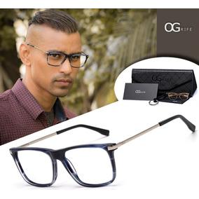 ebf810e8c4189 Oculos Sem Grau Masculino Da Lente Escura - Óculos no Mercado Livre ...