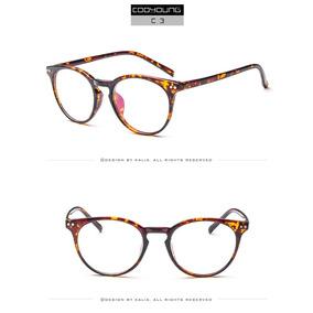 66894d088a64d Armação Óculos Acetato Redondo Acessório Descanso Estétik Dc
