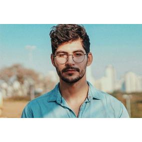 e011ff4450217 Oculos Redondo Masculino Tamanho Grande - Óculos no Mercado Livre Brasil