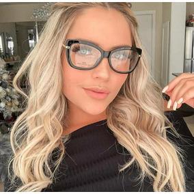 f08caa793af3e Oculo Lente Falsa Transparente - Óculos no Mercado Livre Brasil