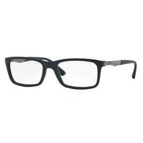 4798de859e4a1 Armação Oculos Grau Ray Ban Rb7040l 5412 Lte 53mm Azul Fosco