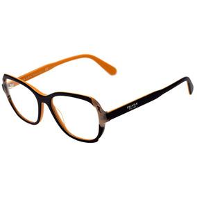 a3d12dae684d7 Prada Pr 03vv - Óculos De Grau 30z 1o1 Azul E Amarelo Brilho