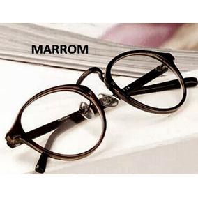 6107a93654bb5 Armação De Óculos P  Grau Lente Clara Nerd Unissex - M4