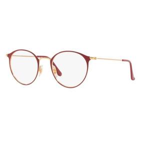668ae0d5fdbfb Armação Oculos Grau Ray Ban Rb6378 3028 49 Vermelho Dourado