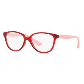 360b71b522562 Armação Oculos Grau Ray Ban Junior Rb1582 3755 Vermelho Rosa. R  199