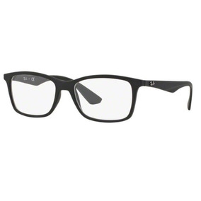 2a4e3b0215b94 Armação Oculos Grau Ray Ban Rb7047l 5196 56mm Preto Fosco