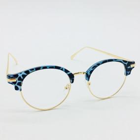 b2a2b4a181f95 Armação Oculos De Grau Geek Vintage Gato Redondo Retro Barat