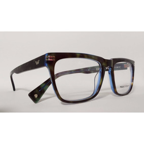 fd28d09fa4b11 Óculos Armação Acetato Masculino Tamanho 54 Azul Good Time