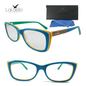 c612157044300 Óculos Feminino Armação De Grau Juvenil Colorido Lafaello