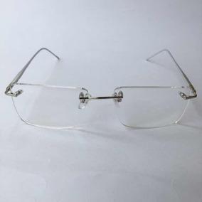 d8d6077ee8c8c Armação Parafusada Sem Aro Flutuante Óculos Graú Cor Prata