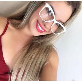 dda18fa4ddd6b Óculos Feminino Quadrado Grande Estiloso Blogueiras Preto. Bahia · Armação  De Grau Feminina Branca Grande Estilosa Moda Moderna