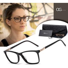b53a4f612e081 Armação Oculos Ogrife Og 996-c Feminino Com Lente Sem Grau