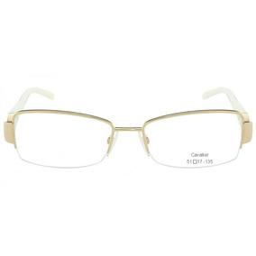 8a32ff2646d30 Armação Oculos Leitura Grau Cavallier Slim Metal Retro Ofert