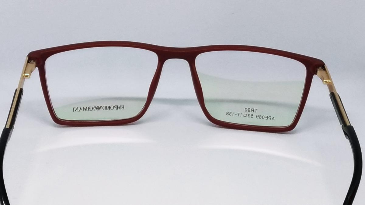848c509aaaa6a Carregando zoom... armação p oculos masculino de grau armani tr90 modelo ea  138