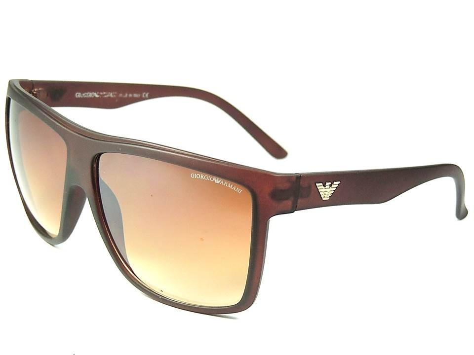 135900abe510d óculos armani masculino modelo grande marrom proteção uv400. Carregando  zoom.